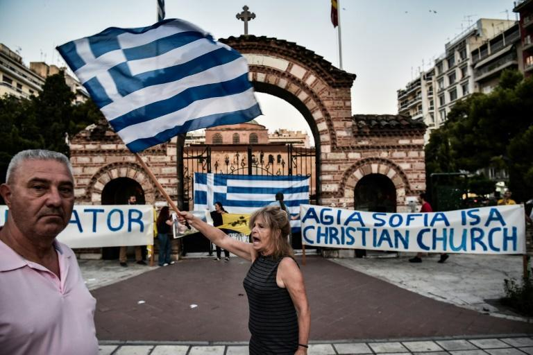 Greeks have protested the reconversion