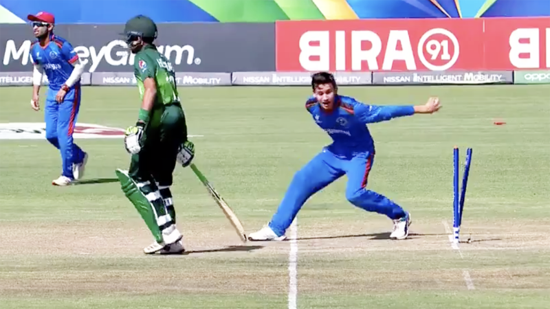 Afghanistan, pictured here affecting a Mankad against Pakistan at the Under-19 World Cup.