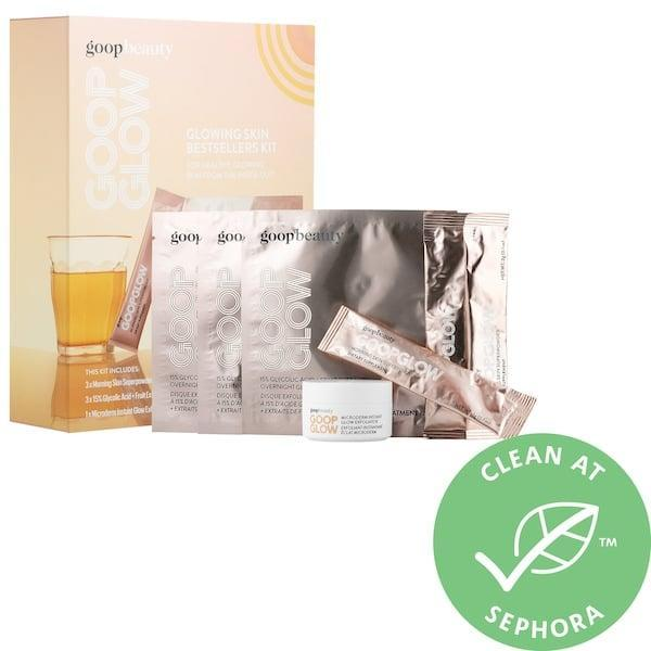 <p>Dull, dry winter skin doesn't stand a chance with the goodies in this <span>Goop Goopglow Best Sellers Kit</span> ($59).</p>