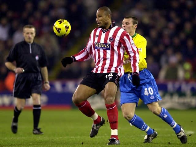 Georges Santos, left, played his last game for Sheffield United that day (Rui Vieira/PA)