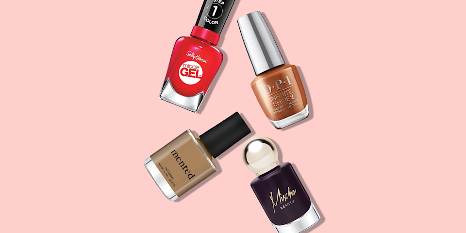 "<p> Whether you're looking for a beauty boost or a way to rock <a href=""https://www.goodhousekeeping.com/beauty/a35279700/beauty-makeup-trends-2021/"" rel=""nofollow noopener"" target=""_blank"" data-ylk=""slk:this year's latest beauty trend"" class=""link rapid-noclick-resp"">this year's latest beauty trend</a> without a major commitment, a mani/pedi is always a good idea. But with a plethora of <a href=""https://www.goodhousekeeping.com/beauty/nails/g27437679/best-nail-polishes/"" rel=""nofollow noopener"" target=""_blank"" data-ylk=""slk:nail polishes"" class=""link rapid-noclick-resp"">nail polishes</a> on the market, it can be tricky to choose one that's current <em>and </em><a href=""https://www.goodhousekeeping.com/beauty/makeup/g34497788/best-lipsticks-for-dark-skin/"" rel=""nofollow noopener"" target=""_blank"" data-ylk=""slk:complements your dark skin tone"" class=""link rapid-noclick-resp"">complements your dark skin tone</a>. </p><p>""My favorite nail colors to see on dark skin tones are anything citrus,"" says Rachel James, founder of nail brand <a href=""http://www.pearnova.com/"" rel=""nofollow noopener"" target=""_blank"" data-ylk=""slk:Pear Nova"" class=""link rapid-noclick-resp"">Pear Nova</a>, who expects to ""see louder statements being made on the nails"" in 2021. Don't worry: the trendiest styles are DIY-friendly. ""Minimal <a href=""https://www.goodhousekeeping.com/beauty/nails/g30107024/cute-short-nails/"" rel=""nofollow noopener"" target=""_blank"" data-ylk=""slk:nail art"" class=""link rapid-noclick-resp"">nail art</a> is hot as more and more people are being creative in the confines of their own space doing their nails,"" says <a href=""https://www.seemanagement.com/artists/ginaedwards/"" rel=""nofollow noopener"" target=""_blank"" data-ylk=""slk:Gina Edwards"" class=""link rapid-noclick-resp"">Gina Edwards</a>, a celebrity nail stylist in New York City. And ""investing in at-home <a href=""https://www.goodhousekeeping.com/beauty/nails/g32497177/best-nail-strengtheners/"" rel=""nofollow noopener"" target=""_blank"" data-ylk=""slk:nail care treatments"" class=""link rapid-noclick-resp"">nail care treatments</a> is a must,"" says Kitiya Mischo King, founder of nail line <a href=""http://www.mischobeauty.com/"" rel=""nofollow noopener"" target=""_blank"" data-ylk=""slk:Mischo Beauty"" class=""link rapid-noclick-resp"">Mischo Beauty</a>, to <a href=""https://www.goodhousekeeping.com/beauty/nails/a34645/healthy-nail-care-tips/"" rel=""nofollow noopener"" target=""_blank"" data-ylk=""slk:keep those natural nails strong and healthy."" class=""link rapid-noclick-resp"">keep those natural nails strong and healthy.</a></p><p>If you're heading to the salon or purchasing a polish so you can DIY a mani at home, we've rounded up the <a href=""https://www.goodhousekeeping.com/beauty/nails/g33003945/best-gel-nail-polish/"" rel=""nofollow noopener"" target=""_blank"" data-ylk=""slk:best nail polish"" class=""link rapid-noclick-resp"">best nail polish</a> colors that look fantastic on darker skin tones, from <a href=""https://www.goodhousekeeping.com/beauty/nails/g2538/summer-nail-art-ideas/"" rel=""nofollow noopener"" target=""_blank"" data-ylk=""slk:summer nail inspo"" class=""link rapid-noclick-resp"">summer nail inspo</a> to <a href=""https://www.goodhousekeeping.com/beauty/nails/g27793353/best-fall-nail-colors/"" rel=""nofollow noopener"" target=""_blank"" data-ylk=""slk:fall nail colors"" class=""link rapid-noclick-resp"">fall nail colors</a> and <a href=""https://www.goodhousekeeping.com/beauty/nails/g29008877/best-winter-nail-colors/"" rel=""nofollow noopener"" target=""_blank"" data-ylk=""slk:winter-friendly nail colors"" class=""link rapid-noclick-resp"">winter-friendly nail colors</a> with neutrals, shades for toes, and more!</p>"