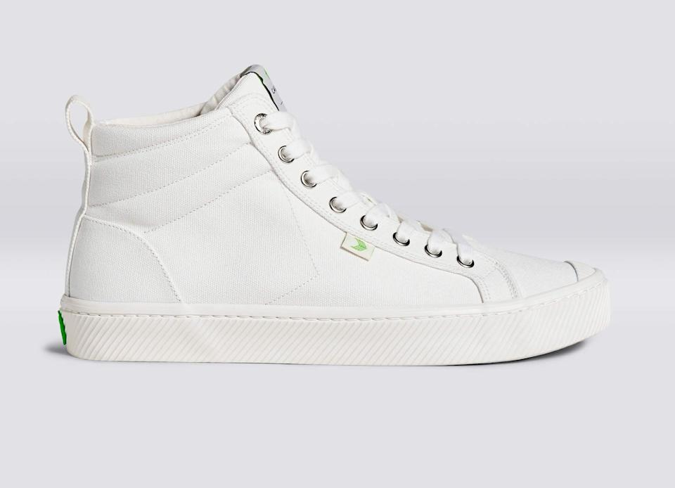 """<p><span>Cariuma High Off-White Canvas Sneakers</span> ($98)</p> <p>""""This past year, mine have totally been <a href=""""https://www.popsugar.com/fashion/cariuma-sneakers-review-47500057"""" class=""""link rapid-noclick-resp"""" rel=""""nofollow noopener"""" target=""""_blank"""" data-ylk=""""slk:these sneakers"""">these sneakers</a>. As a total Vans lover, these are like the 2.0 iteration. Firstly, I love the off-white coloring because sneakers that are dental-white just irk me. Most importantly, Cariuma sneakers are sustainable and made from vegan materials. As I slowly make the transition to veganism, I'm trying to buy products that help me put the money where my mouth is. Did I mention they're incredibly comfortable?</p> <p>- Sarah Wasilak, editor, Fashion</p>"""