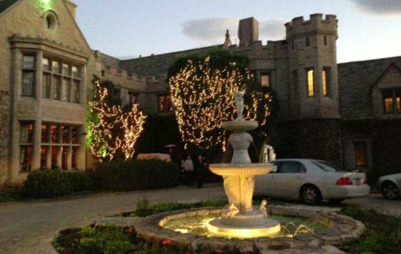The famous Playboy mansion in LA where Amanda got to stay. Source: Supplied