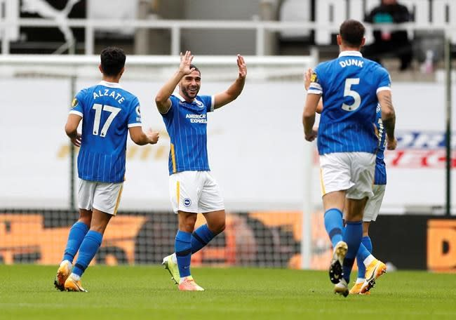 Maupay's quick double helps Brighton to 3-0 win at Newcastle