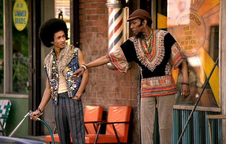 Jaden Smith and Ron Cephas Jones in The Get Down