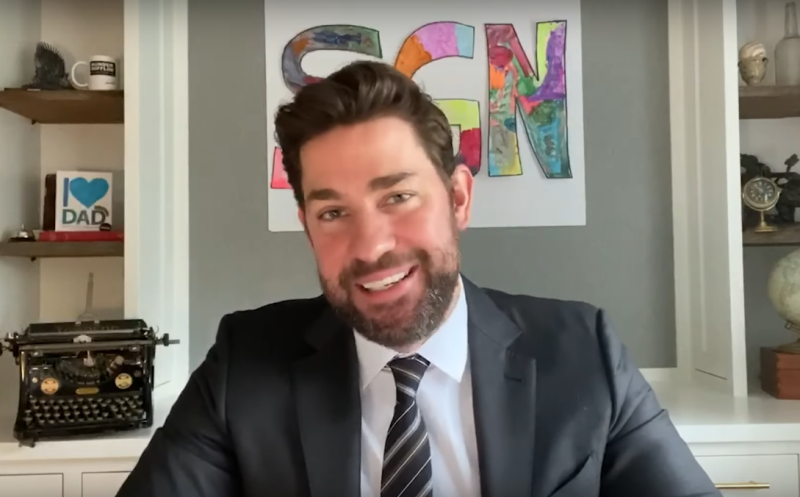 John Krasinski on his new web show SGN (Credit: YouTube)