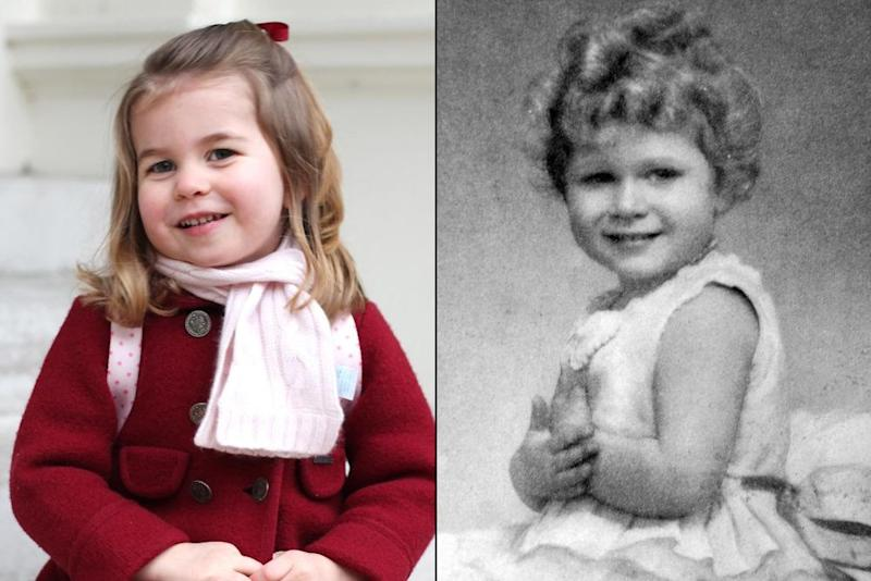 Princess Charlotte and young Queen Elizabeth