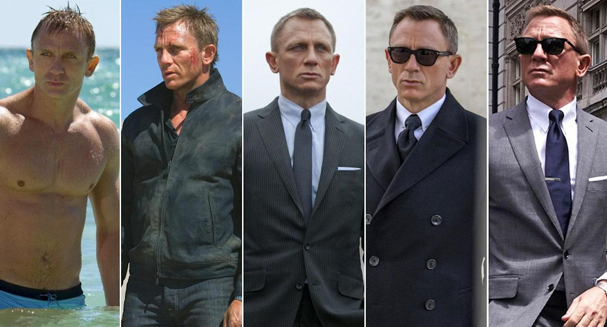 Daniel Craig appeared is five James Bond films: Casino Royale, Quantum of Solace, Skyfall, Spectre, No Time To Die (MGM/EON/Sony Pictures/Universal Pictures)