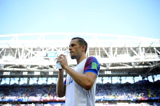 <p>Iceland keep cool in the Russian heat </p>