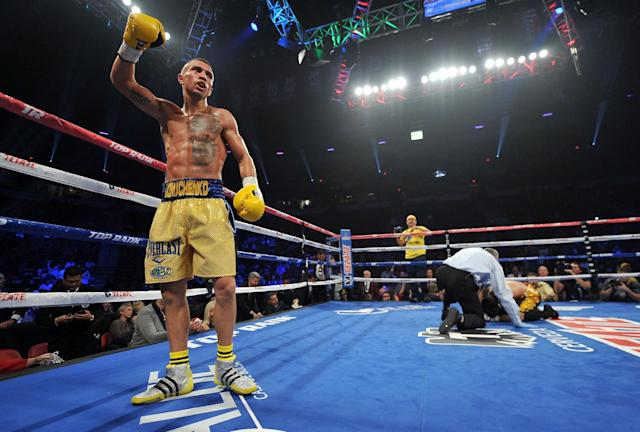 Vasyl Lomachenko is a heavy favorite in his fight against Jason Sosa on Saturday night. (Getty)