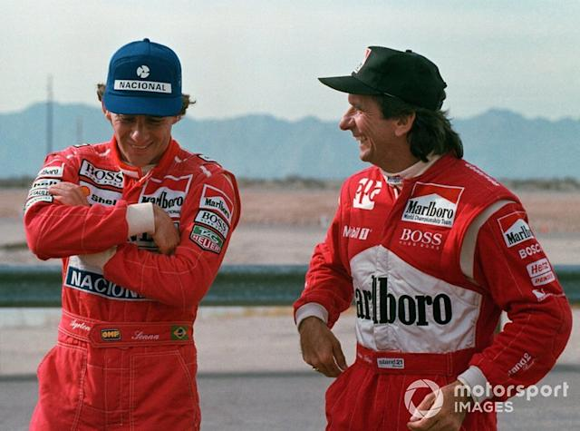 "Ayrton Senna y Emerson Fittipaldi <span class=""copyright"">Sutton Motorsport Images</span>"