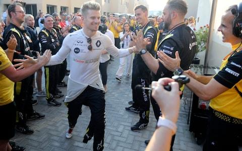 Nico Hulkenberg bids a likely farewell to F1 - Credit: AP