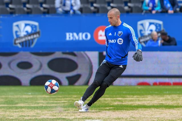 Training has been a challenge for Montreal Impact goalkeeper Evan Bush during the league's shutdown. (Stephane Dube /Getty)
