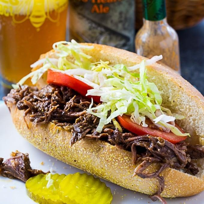 """<p>Did someone say lunchtime? In that case, it's time for a sandwich! This roast beef masterpiece is bursting with rich garlicky flavor that will fill you up for hours to come.</p> <p><strong>Get the recipe</strong>: <a href=""""https://spicysouthernkitchen.com/roast-beef-debris/"""" class=""""link rapid-noclick-resp"""" rel=""""nofollow noopener"""" target=""""_blank"""" data-ylk=""""slk:roast beef debris"""">roast beef debris</a></p>"""