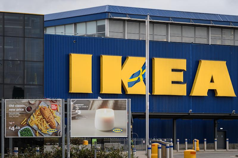 WEMBLEY, ENGLAND - JANUARY 29: The Swedish flag is flown at half-mast outside a branch of the Ikea furniture store as a tribute to company founder Ingvar Kamprad, on January 29, 2018 in Wembley, England. Mr Kamprad, who died on January 27, aged 91, started the company in Sweden when just 17 years old. (Photo by Leon Neal/Getty Images)