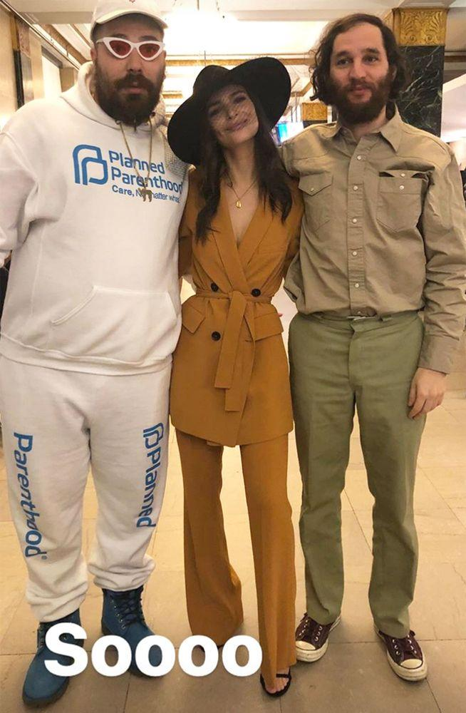 The Fat Jewish, Emily Ratajkowski, and friend