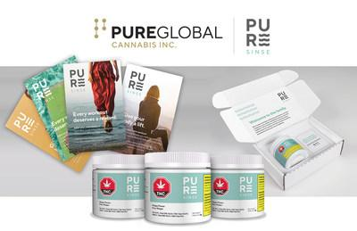 Pure Global Cannabis and PureSinse Inc. product line (CNW Group/Pure Global Cannabis Inc.)