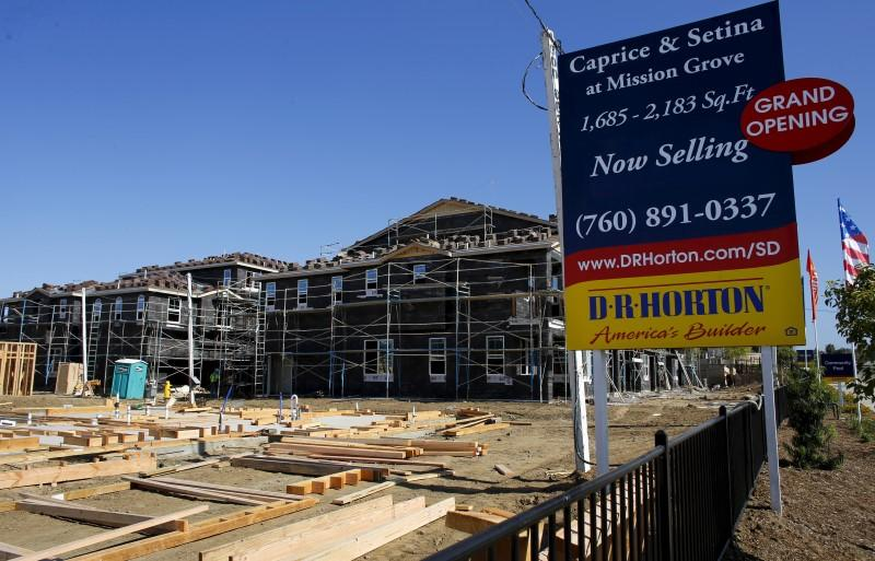 A D.R. Horton home building project is pictured in San Marcos, California
