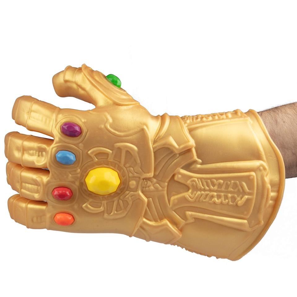 """<h3><a href=""""https://amzn.to/2I6aTwM"""" rel=""""nofollow noopener"""" target=""""_blank"""" data-ylk=""""slk:Marvel Avengers Infinity Gauntlet Silicone Oven Mitt"""" class=""""link rapid-noclick-resp"""">Marvel Avengers Infinity Gauntlet Silicone Oven Mitt</a></h3><br>Say hello to one of our favorite most carted surprises from the month: the irresistibly novel, silicone Avengers' oven mitt featured in our <a href=""""https://www.refinery29.com/en-us/2020/01/9323433/amazon-valentines-day-gifts-2020"""" rel=""""nofollow noopener"""" target=""""_blank"""" data-ylk=""""slk:V-Day guide to really"""" class=""""link rapid-noclick-resp"""">V-Day guide to really </a><em><a href=""""https://www.refinery29.com/en-us/2020/01/9323433/amazon-valentines-day-gifts-2020"""" rel=""""nofollow noopener"""" target=""""_blank"""" data-ylk=""""slk:good"""" class=""""link rapid-noclick-resp"""">good</a></em><a href=""""https://www.refinery29.com/en-us/2020/01/9323433/amazon-valentines-day-gifts-2020"""" rel=""""nofollow noopener"""" target=""""_blank"""" data-ylk=""""slk:last-minute gifts"""" class=""""link rapid-noclick-resp""""> last-minute gifts</a>. <br><br><strong>Marvel</strong> Avengers Infinity Gauntlet Silicone Thanos Oven Glove, $, available at <a href=""""https://amzn.to/38hcmf2"""" rel=""""nofollow noopener"""" target=""""_blank"""" data-ylk=""""slk:Amazon"""" class=""""link rapid-noclick-resp"""">Amazon</a>"""