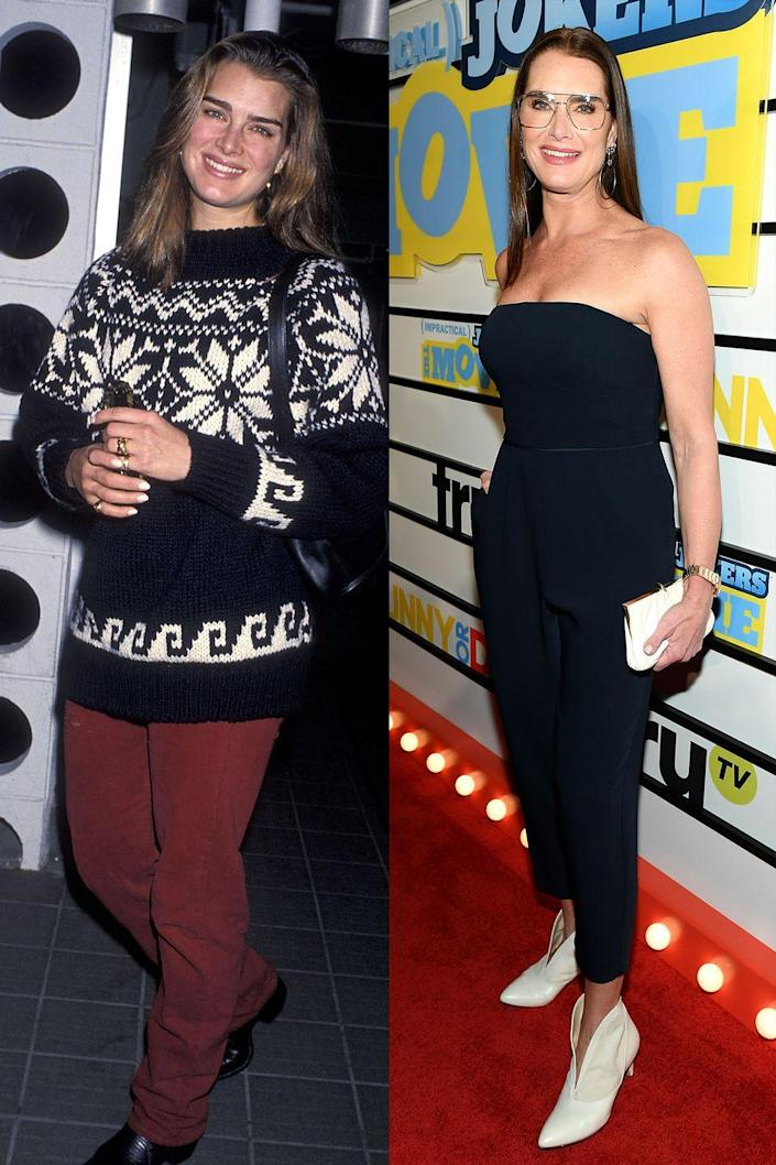<p>Brooke opts for a less casual look these days. Though her glasses do dress down her jumpsuit.</p>