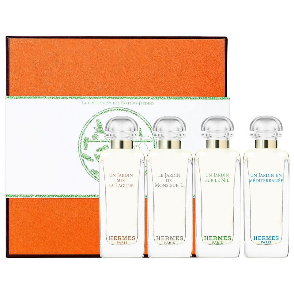 "<p><strong>HERMÈS</strong></p><p>sephora.com</p><p><strong>$50.00</strong></p><p><a href=""https://go.redirectingat.com?id=74968X1596630&url=https%3A%2F%2Fwww.sephora.com%2Fproduct%2Fjardin-collection-miniature-coffret-set-P450560&sref=https%3A%2F%2Fwww.redbookmag.com%2Fbeauty%2Fg34587516%2Fsephora-beauty-gifts%2F"" rel=""nofollow noopener"" target=""_blank"" data-ylk=""slk:Shop Now"" class=""link rapid-noclick-resp"">Shop Now</a></p><p>Gifting fragrance is not an easy thing to do, since one's preferences are usually very specific. But a box of Hermes fragrances? That would make anyone's day. This set comes with four mini fragrances so that the receiver can try each one and settle on their favorite. It doesn't hurt that it's all around ultra-chic. </p>"