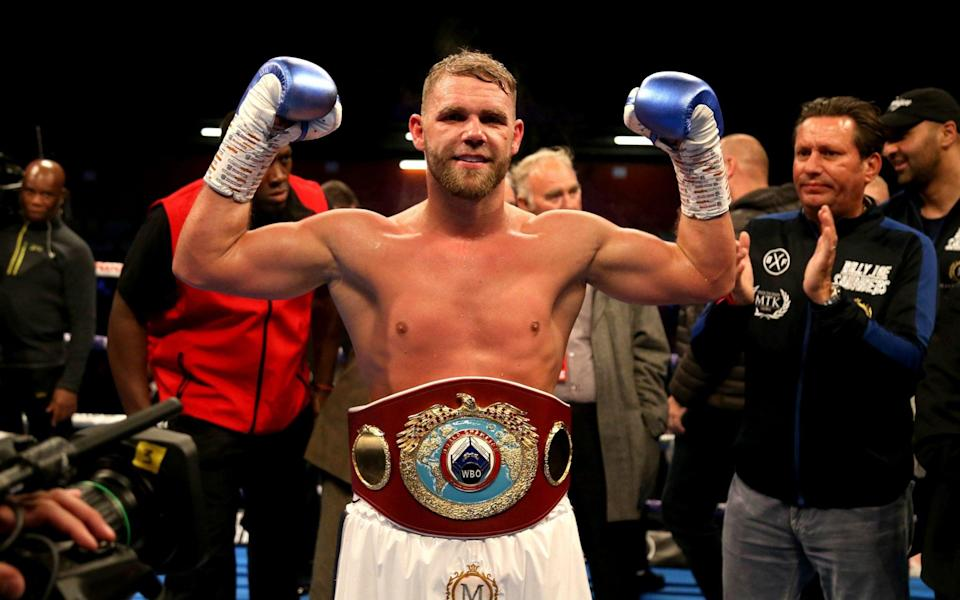 Billy Joe Saunders defends his WBO 12st world title against Martin Murray at Wembley Arena - PA