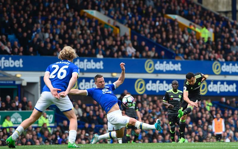 Pedro's strike from range put Chelsea in front at Goodison Park - AFP
