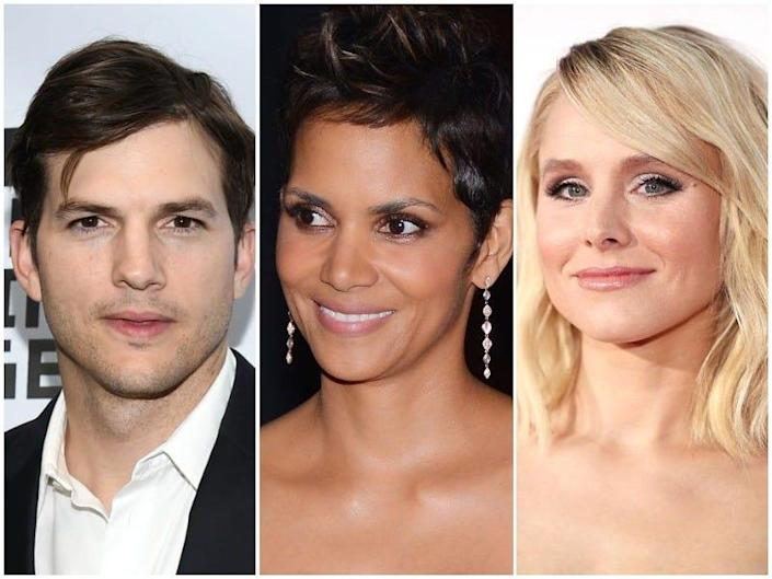 From left to right: Ashton Kutcher, Halle Berry, Kristen Bell. All were born in the Midwest.