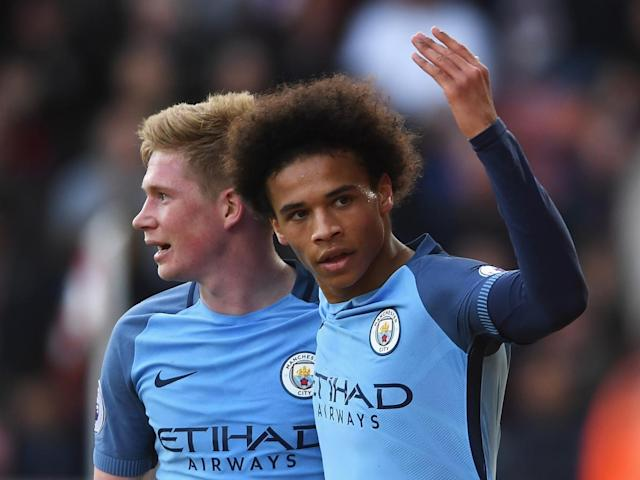 Sane applied the finish to a devastating City counter (Getty)