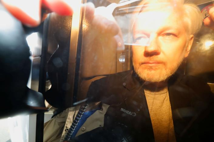 <p>Assange was sentenced to 50 weeks in jail for breaking the terms of his bond in May 2019</p>Getty