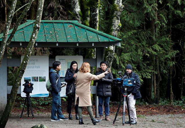 World media have come to Vancouver Island to report on Harry and Meghan. (REUTERS/Kevin Light)