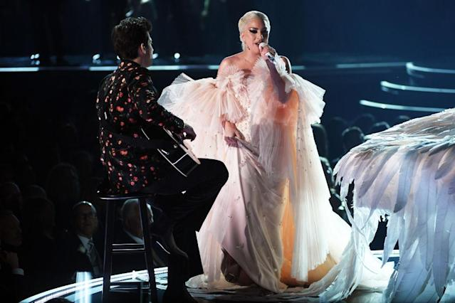 <p>Lady Gaga performs onstage during the 60th Annual Grammy Awards on January 28, 2018, in New York City. (Photo: Getty Images) </p>