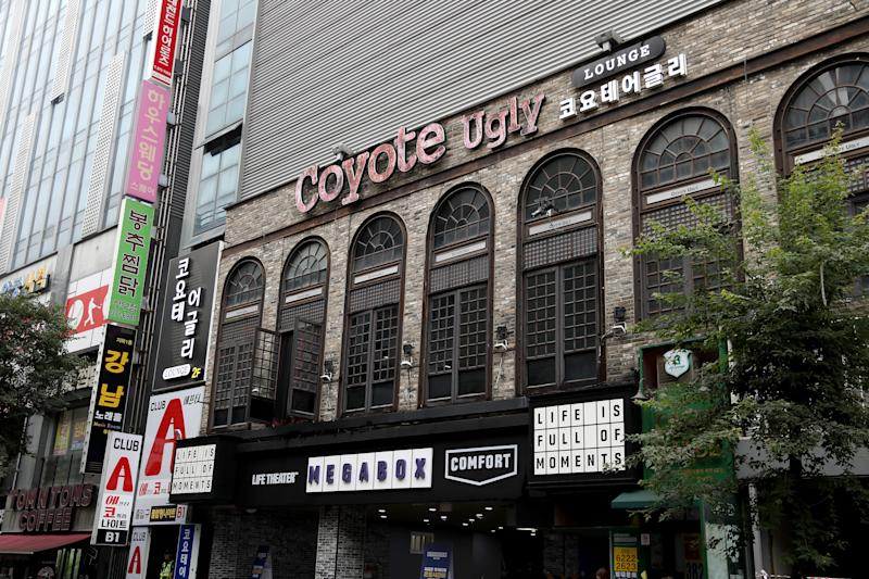 An exterior view of the nightclub Coyote Ugly on July 27, 2019 in Gwangju, South Korea. Two people were killed with at least ten injured including some athletes when an internal balcony collapsed in the nightclub. (Photo by Justin Heiman/Getty Images)