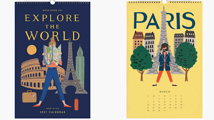 Gifts for teachers: Rifle Paper Explore the World calendar