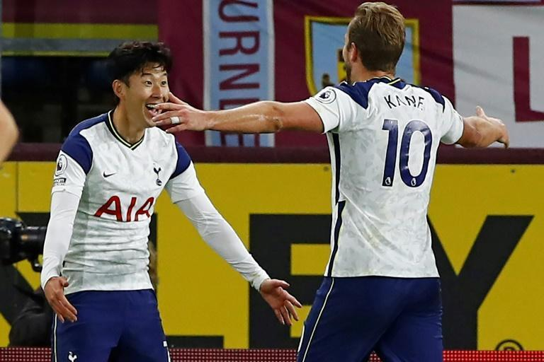 Son Heung-Min (L) and Harry Kane have linked up to devastating effect for Tottenham this season