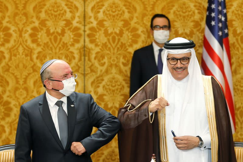 Israeli government delegation signs an agreement with Bahraini officials in Manama