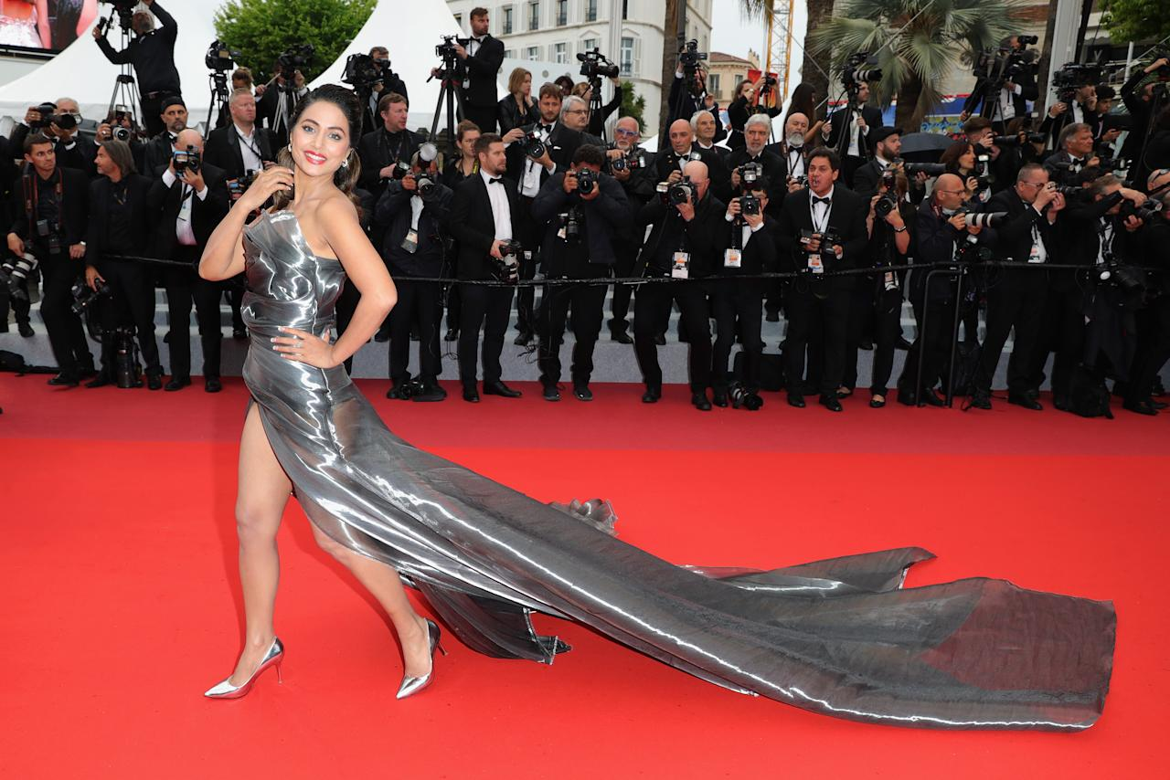 """CANNES, FRANCE - MAY 18: Hina Khan attends the screening of """"Les Plus Belles Annees D'Une Vie"""" during the 72nd annual Cannes Film Festival on May 18, 2019 in Cannes, France. (Photo by Andreas Rentz/Getty Images)"""