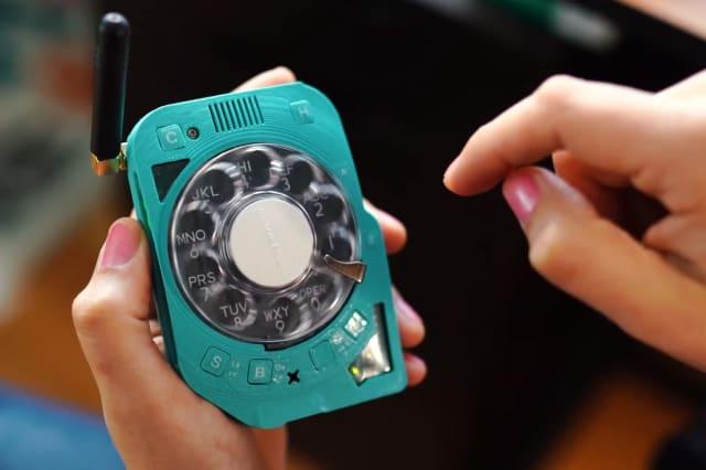 Justine Haupt's rotary dial phone