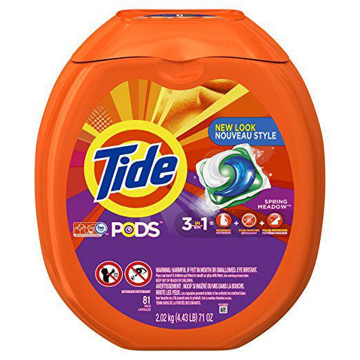 """<p>Have your detergent shipped straight to your door every couple of months and save yourself the hassle of lugging it around the grocery store. Delivery every two months is most common for Tide PODS. </p> <p> <strong>Tide PODS: $18.97; <a rel=""""nofollow"""" href=""""https://www.amazon.com/Tide-Spring-Laundry-Detergent-81-load/dp/B01BUNHFQM/""""><em>amazon.com</em></a></strong></p>"""