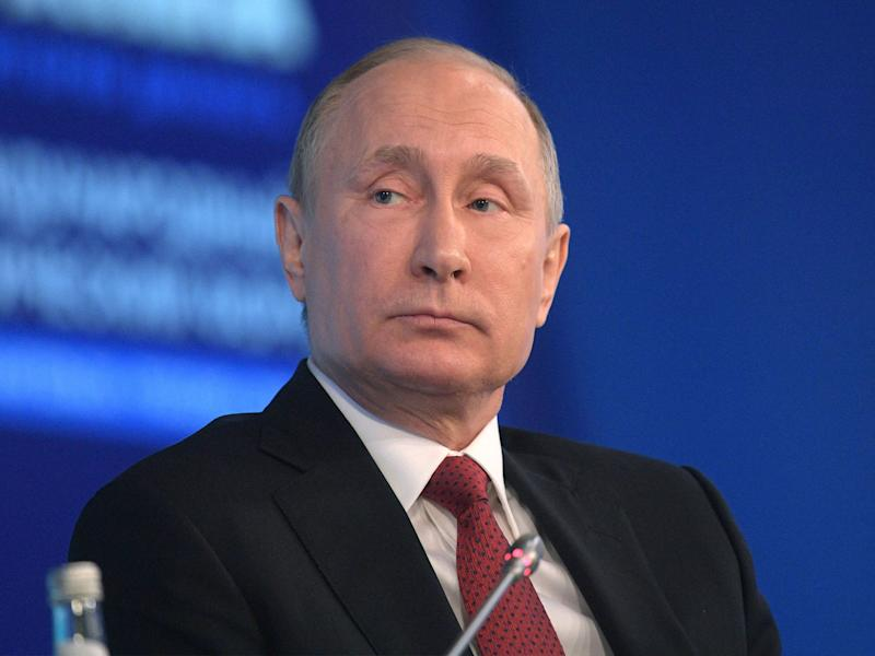 Russian President Vladimir Putin strongly denied the claims of meddling: EPA
