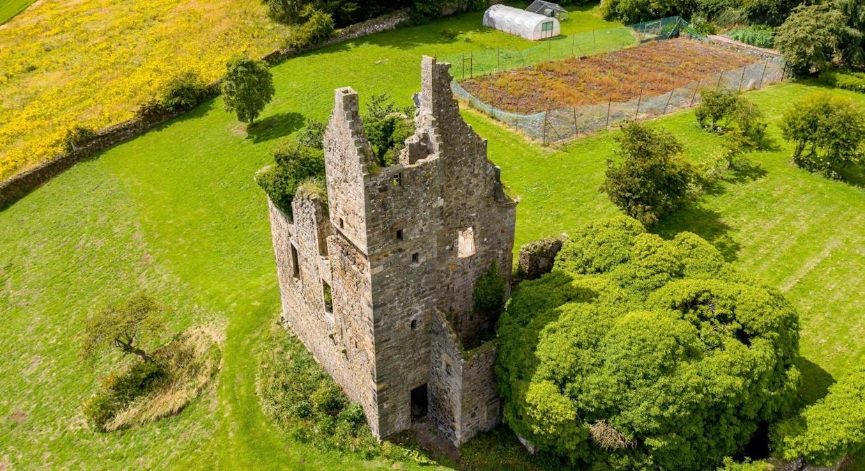 Piteadie Castle is located in Kirkcaldy, Fife (SWNS)