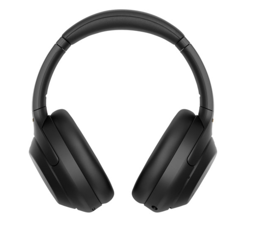 black Sony Over-Ear Noise Cancelling Bluetooth Headphones