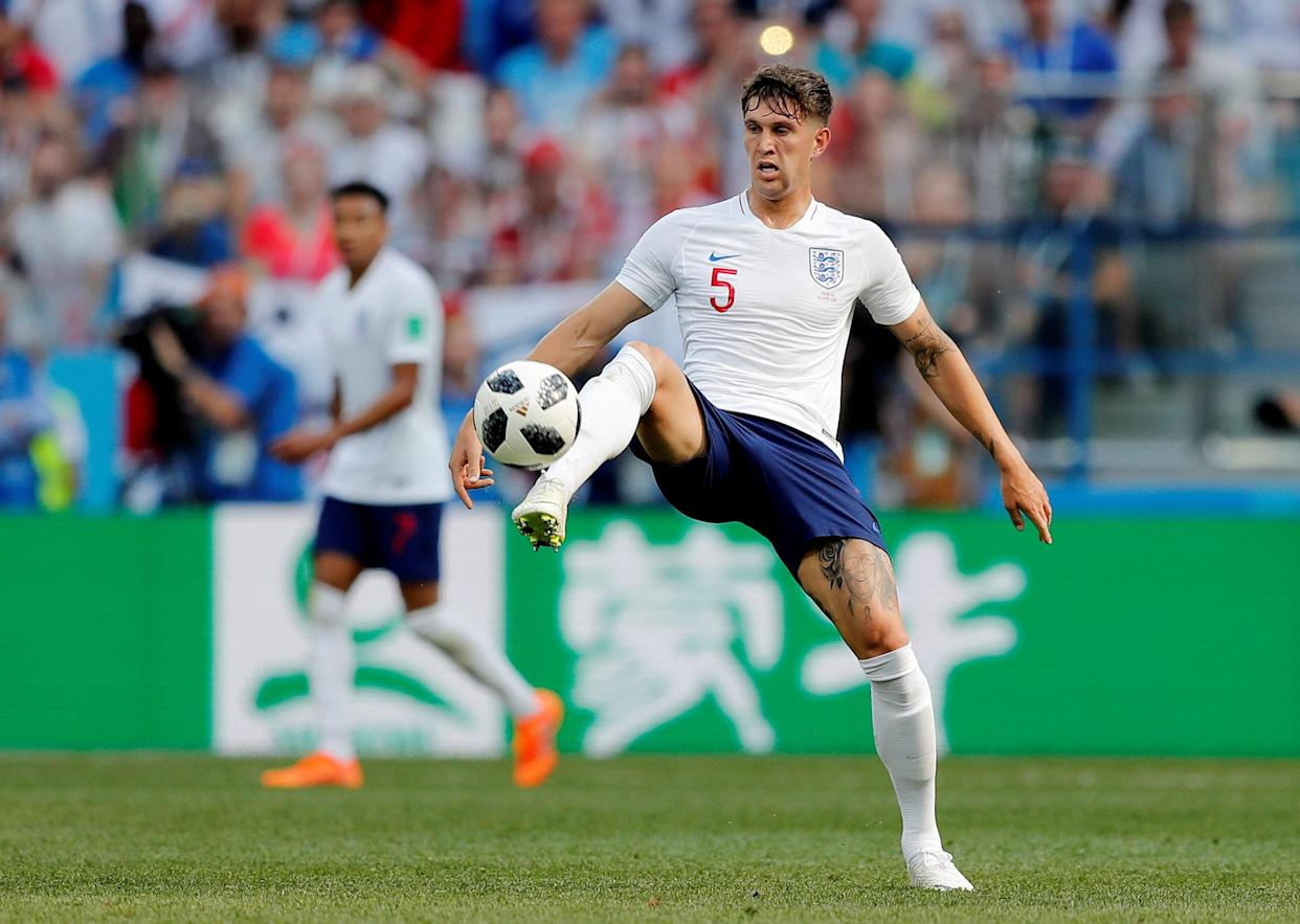 Two goal hero: John Stones was superb as England eased into the second round
