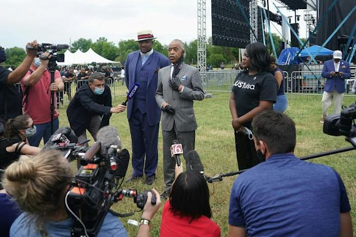 In Tulsa a Juneteenth celebration was attended by several thousand protesters including civil rights activist Al Sharpton (AFP Photo/Michael B. Thomas)