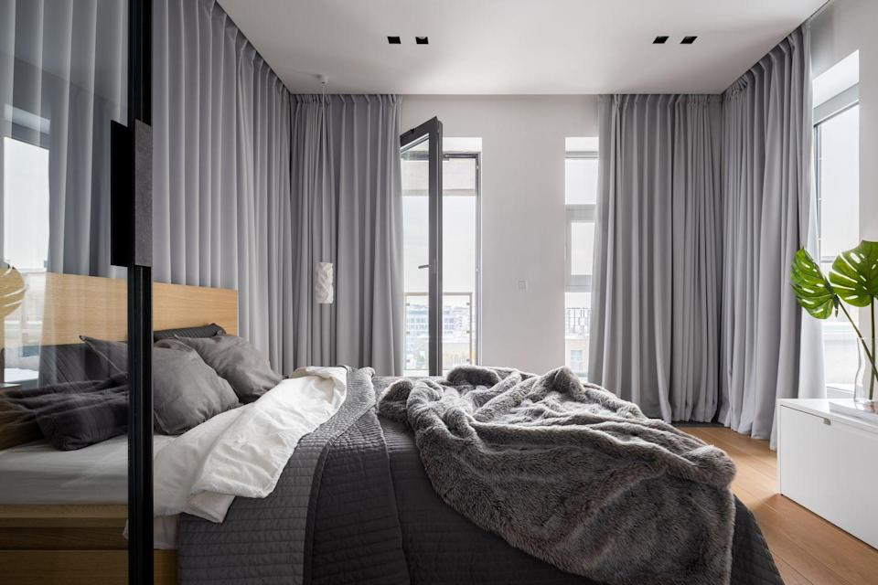 """<p>Getting the right amount of sleep is an essential part of staying healthy and keeping your immune system strong. """"To optimize sleep, add blackout panels, shades, or liners to your window, and consider circadian bulbs or fixtures for your bedroom,"""" Gold says. <strong><br></strong></p><p><strong>BUY NOW</strong>: <a href=""""https://www.amazon.com/AmazonBasics-Room-Darkening-Blackout-Curtain-Grommets/dp/B07B3XFKLS/ref=sr_1_1_sspa?dchild=1&keywords=blackout+curtains&qid=1600101418&refinements=p_72%3A2661618011&rnid=2661617011&sr=8-1-spons&psc=1&spLa=ZW5jcnlwdGVkUXVhbGlmaWVyPUEzQlA3S1FERjRaSklVJmVuY3J5cHRlZElkPUEwODM5NTAySjZSQ1FCSU1aWk8yJmVuY3J5cHRlZEFkSWQ9QTAxNjIzNDMyTUY3QUU5Rk4xUldYJndpZGdldE5hbWU9c3BfYXRmJmFjdGlvbj1jbGlja1JlZGlyZWN0JmRvTm90TG9nQ2xpY2s9dHJ1ZQ=="""" rel=""""nofollow noopener"""" target=""""_blank"""" data-ylk=""""slk:Blackout window curtains"""" class=""""link rapid-noclick-resp"""">Blackout window curtains</a> ($42)</p>"""