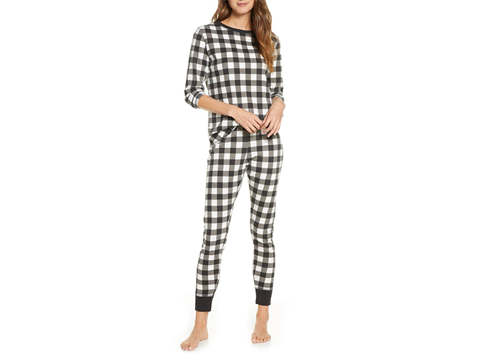 """<h2>1. Rachel Parcell Thermal Pajamas</h2> <p>Thanks to the ultra-cozy thermal fabric and adorable buffalo check print, she'll practically live in these pajamas while cozying up with Netflix from Christmas Eve until New Year's Day.</p> <p><a class=""""cta-button-link"""" href=""""https://shop.nordstrom.com/S/5336024?utm_source=rakuten&utm_medium=affiliate&utm_campaign=datafeed&utm_content=Women%3ASleepwear%3ASet&utm_term=5881386&utm_channel=affiliate_ret_p&sp_source=rakuten&sp_campaign=datafeed&nrtv_cid=.nrtv_plchldr."""" target=""""_blank"""">BUY IT (<span style=""""text-decoration:line-through;"""">$59</span>; $40)</a></p>"""
