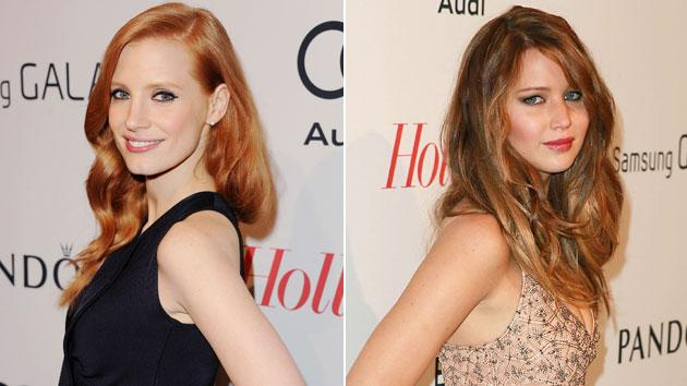 Jessica Chastain and Jennifer Lawrence