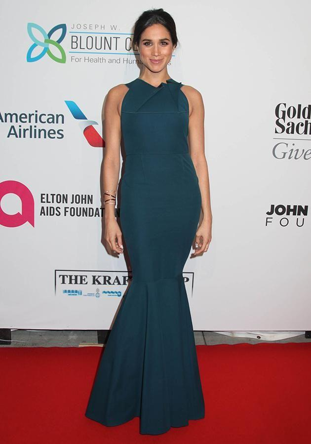 In October 2014 Markle made her mark on the brand when she wore one of their gowns down the red carpet. Photo: AAP