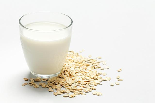 Made by soaking oats in water and then straining them, it contains some protein (4 grams per cup) and is higher in carbohydrates and fiber than many milks. It's also low in fat and contains B-vitamins, as well as trace amounts of other nutrients like magnesium and phosphorus. Commercial oat milks are enriched with calcium, vitamins A and D and potassium.