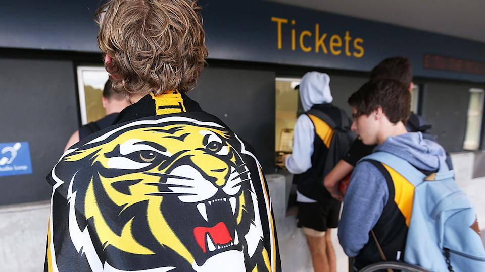 The AFL has put ticket sales for this weekend's matches in Melbourne on hold after several cases of the coronavirus were detected in the Victorian capital. (Photo by Michael Dodge/Getty Images)